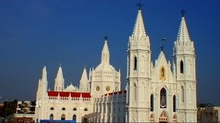 Vailankanni India  city photos gallery : Outside view of Velankanni church Tamilnadu Nagapattinam