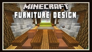 Minecraft: Living Room Furniture Design Ideas    ( How To Build A House -  part 10)