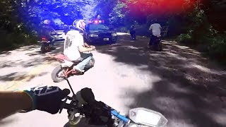 Bikers RUNNING From the Police!