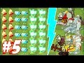 Plants Vs Zombies 2  Fire Peashooter Snow Pea Electric Peashooter Vs Mummified Gargantuar 5