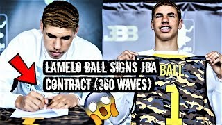 LAMELO BALL AKA DURAG MELO SIGNS HIS JBA CONTRACT!!! + SHOWS HIS CRAZY 360 WAVE PROGRESSION!
