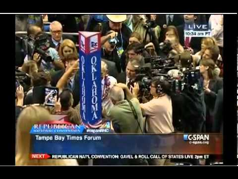 Ron Paul on the floor of the RNC