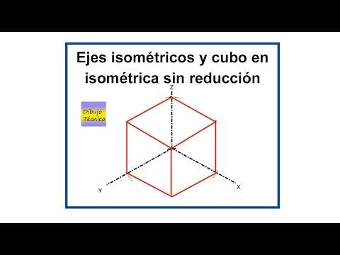 isometricos - Aprendemos a trazar los ejes isométricos y un cubo sin reducción.
