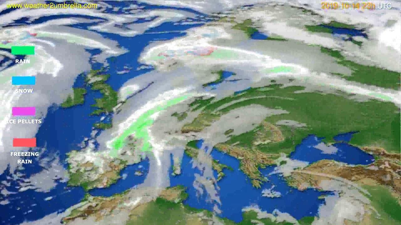 Precipitation forecast Europe // modelrun: 12h UTC 2019-10-11