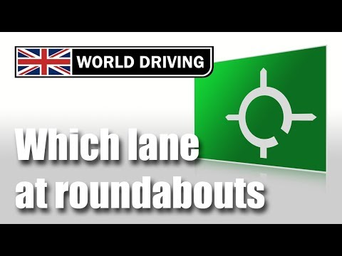 Which Lane To Use On Roundabouts - Roundabouts Driving Lesson
