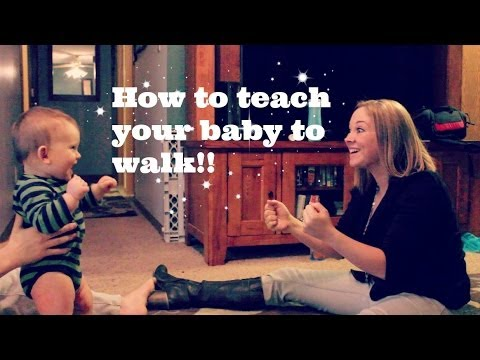 HOW TO TEACH YOUR BABY TO WALK!!
