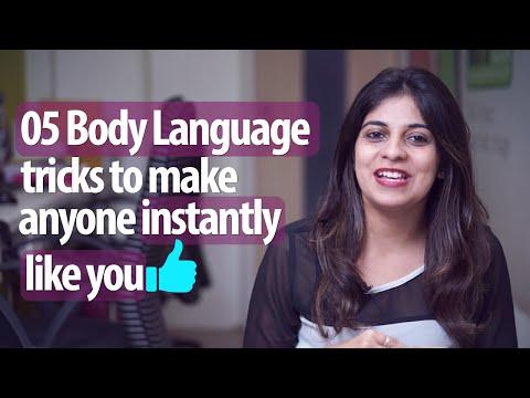 5 Body Language Tricks To Make Anyone Instantly Like You - Personality Development & English Lessons