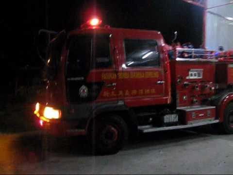 Hino Ranger Fire Truck Returning