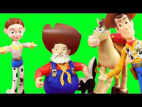 Disney Pixar Toy Story 2 Woody's Roundup Collection With Jessie Woody Stinky Pete And Bullseye