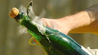 Champagne Saber in 4K Slow Motion with Rhett and Link - The Slow Mo Guys