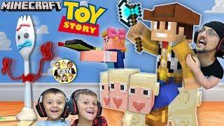 MINECRAFT TOY STORY 4 w/ FGTEEV Boys!  Forky ♥️ Trash Skit / Gameplay