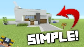 Minecraft: How to Build A Small Modern House - Tutorial!