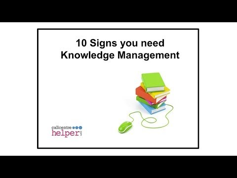 Webinar replay  10 signs you need Knowledge Management