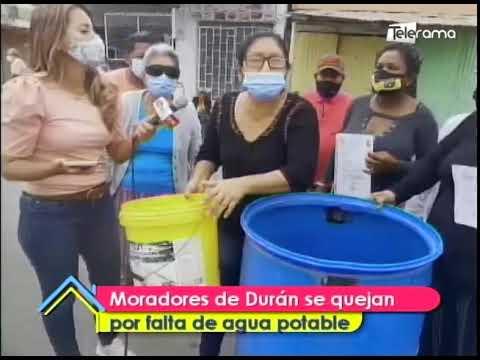 Moradores de Durán se quejan por falta de agua potable