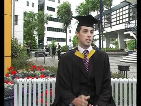 GlamorganUniversity - During the annual graduation ceremonies held on campus at University of Glamorgan, business students are asked about their studies, course and general learni...