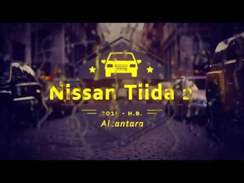 """Чехлы на Nissan Tiida 2, серии """"Alcantara"""" - черная строчка"""