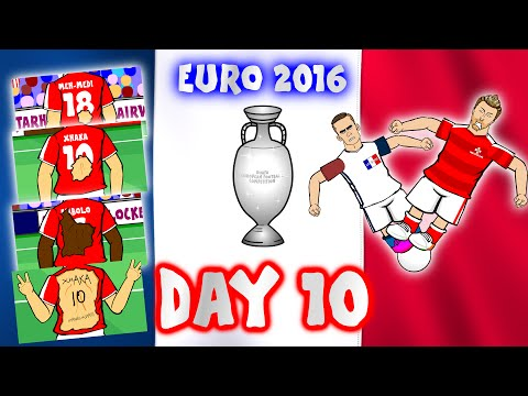 DAY 10 - Euro 2016! (Romania vs Albania 0-1)(Switzerland vs France 0-0)