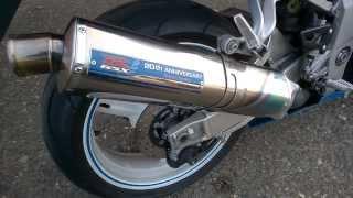 7. Yoshimura Tri Oval Fire Spec Suzuki GSX-R 750 K1 ohne DB Killer