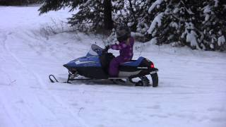 9. Ava on her 2014 Polaris Indy 120
