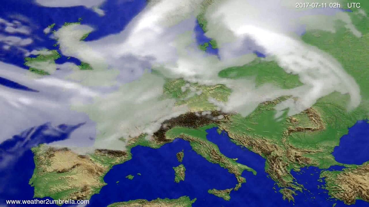 Cloud forecast Europe 2017-07-07