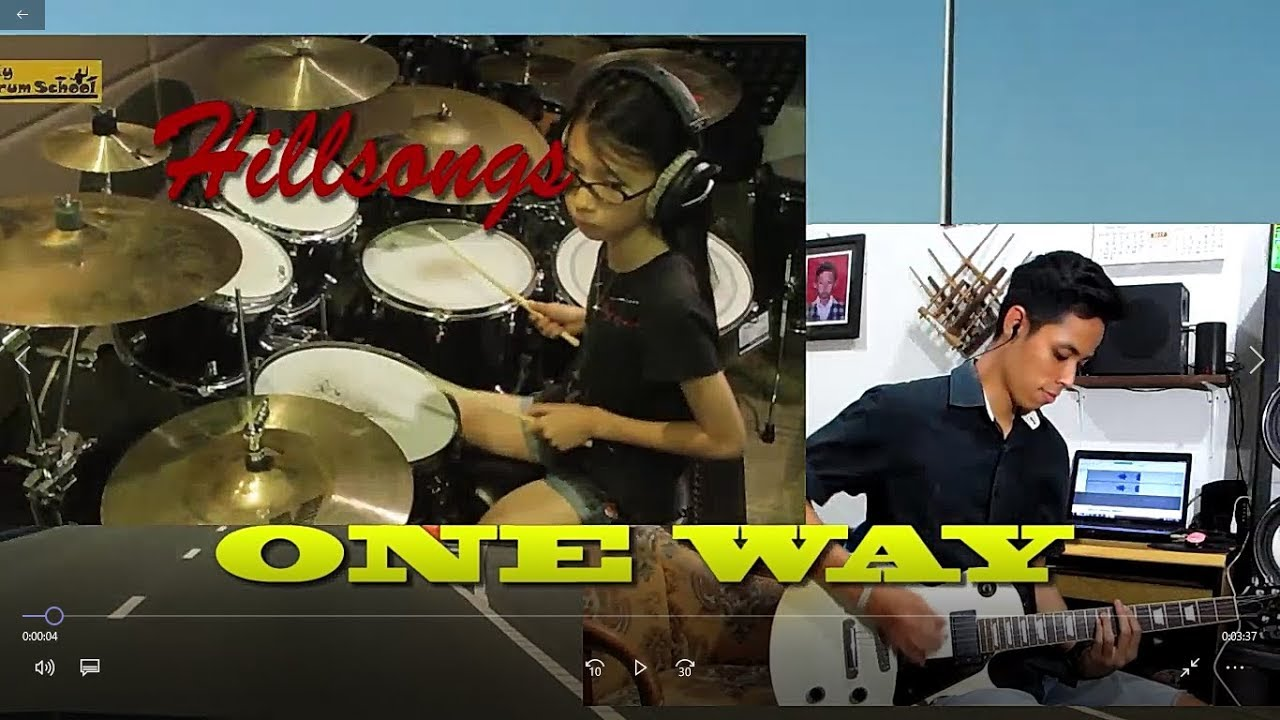 One Way (Hillsongs) – Drum & Guitar cover (mixed videos)