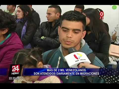 Mil venezolanos son atendidos diariamente en Migraciones