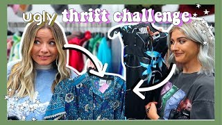Video THE UGLY THRIFT STORE CHALLENGE (IT WAS BAD) MP3, 3GP, MP4, WEBM, AVI, FLV Maret 2019