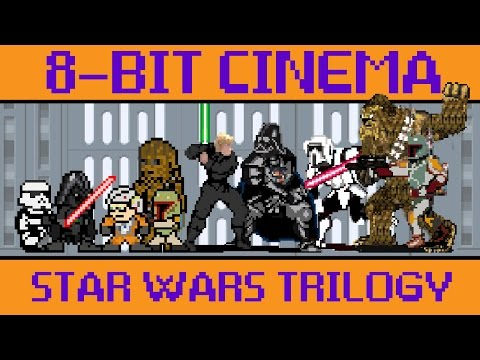 The Star Wars Trilogy Retold as Iconic Old School Video