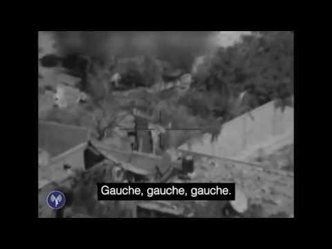 Une rampe de lancement de roquettes cachée entre des maisons à Gaza