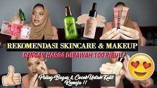 REKOMENDASI MAKEUP PALING BAGUS DIBAWAH 100 RIBU?!! | Dinda Shafay (Bahasa)