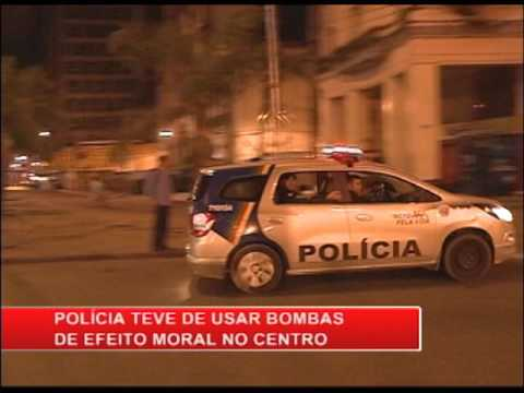 Arrastão, espancamento e vandalismo no centro do Recife