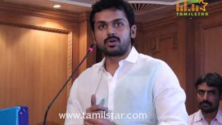 Actor Karthi at Lysosomal Storage Disorders Support Society Event