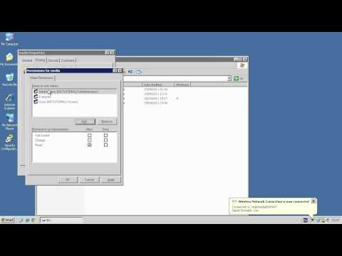 Create a Share - Windows Server 2003 R2