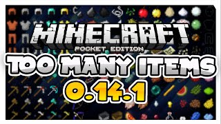 BEST TOO MANY ITEMS EVER for 0.17.0!!! - MCPE Inventory Editor - Minecraft PE (Pocket Edition)