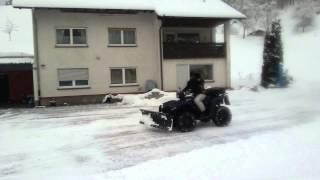 4. Suzuki KingQuad 750 AXI 4x4 - Warn Schneeschild Snow Plow