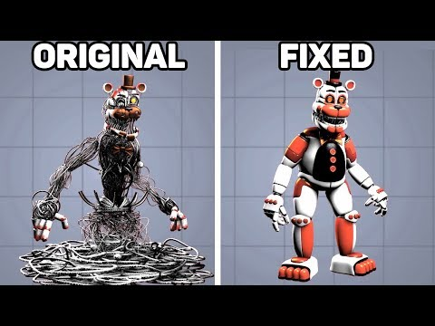 Fixed VS. Original Animatronics In Five Nights At Freddy's #4