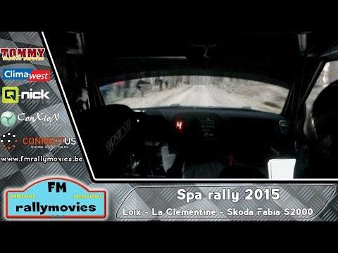 Spa rally 2015 | ONBOARD | Loix - KP3 La Clémentine (Skoda Fabia S2000) [HD]