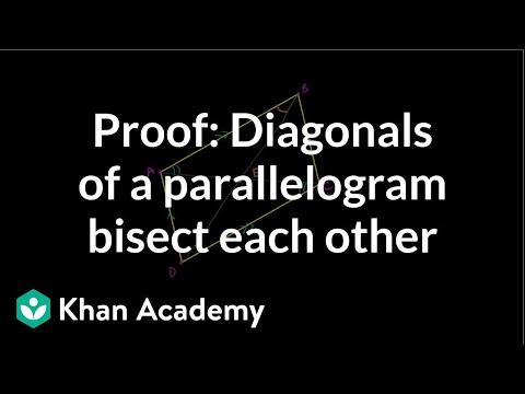 Diagonalen im Parallelogramm - Beweis (Video) | Khan Academy