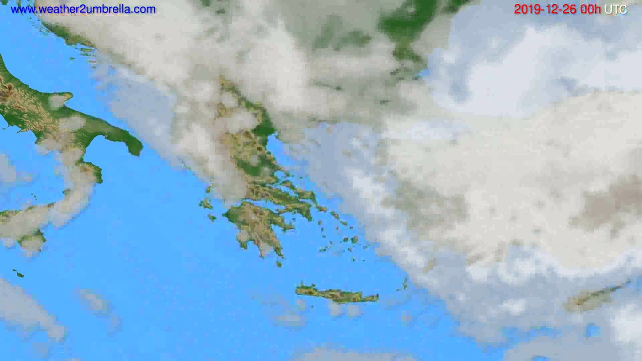 Cloud forecast Greece // modelrun: 00h UTC 2019-12-25