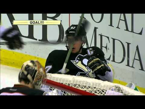 Sidney Crosby scores two breakaway goals vs. Ducks