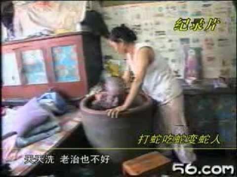最好相信因果輪迴,中國農婦吃蛇,竟然變蛇人!!!
