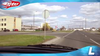Rajder - Toruń trasy egzaminacyjne - wjazd do WORD - egzamin na prawo jazdy