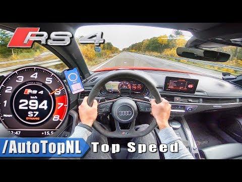 AUDI RS4 B9 Avant 2.9 V6 BiTurbo 294km/h AUTOBAHN POV TOP SPEED by AutoTopNL