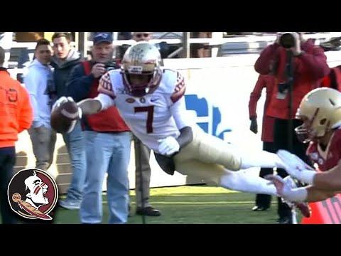FSU's D.J. Matthews' Soaring 60-Yard Catch & Run Touchdown