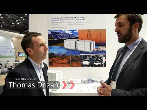 BlueSolutions - LMP® (Lithium Metal Polymer) Technology for Energy Storage ... #EUW18