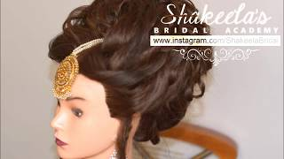 Curly Bridal  Up-Do With  Volume