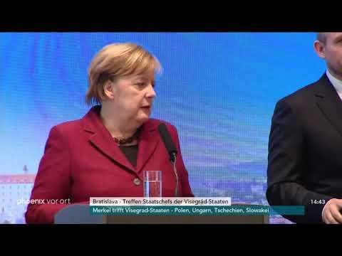Pressekonferenz von Angela Merkel zum Treffen mit den ...