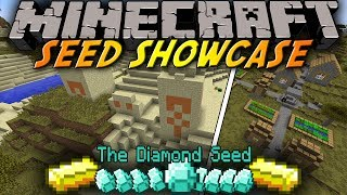 Minecraft: Seed Showcase 1.8 - 10 Diamonds in DESERT TEMPLE at SPAWN & Village in SAVANNA