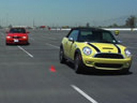 BMW 128i vs. MINI Cooper S at the track
