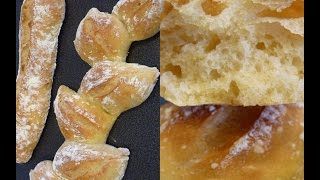 Ma Recette du Pain Marie Blachere! + Bonus Baguette en épis 💕 Sans petrissage - YouTube
